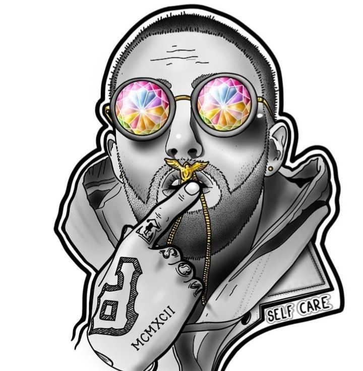 Mac Miller Tribute Tattoo: Pin By Tsoloane On Motion Canvas In 2019