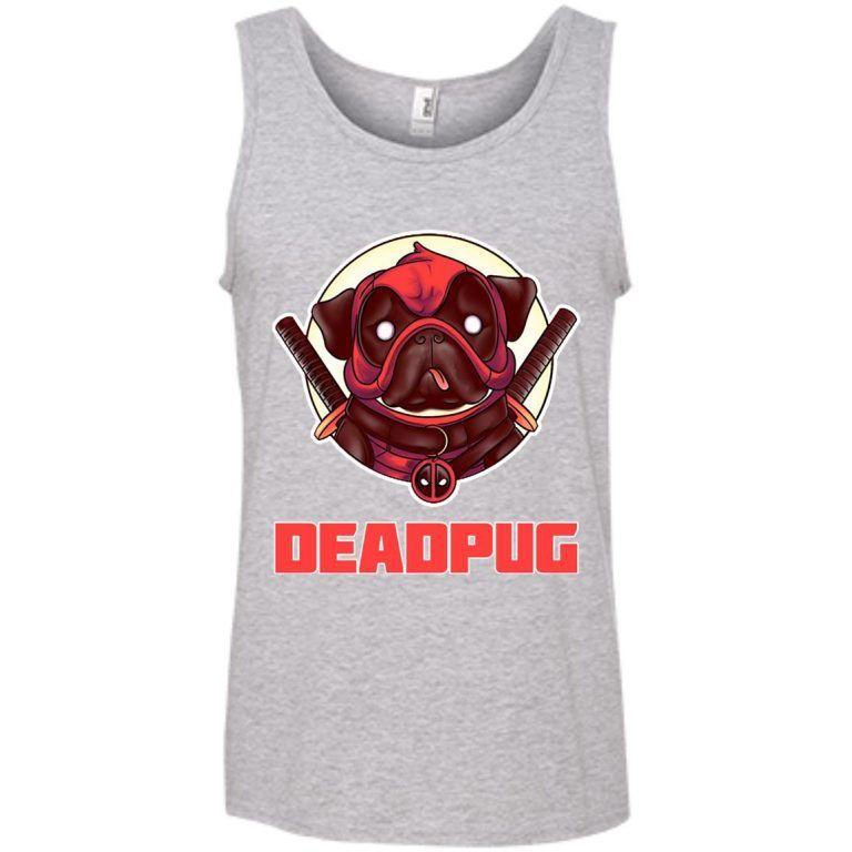 64ce8ccfcb28c Deadpug Deadpool Pug Tank Top - Shop Freeship US Clothing ...