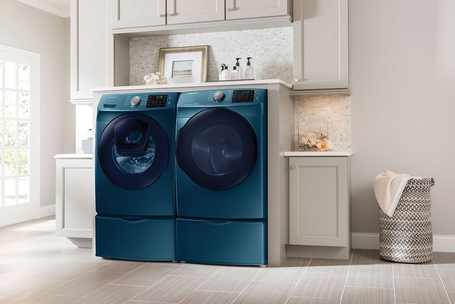 and black ft stainless shop pedestal lowes electric star rebate steel energy laundry com stackable pedestals samsung cu pl dryer washer at