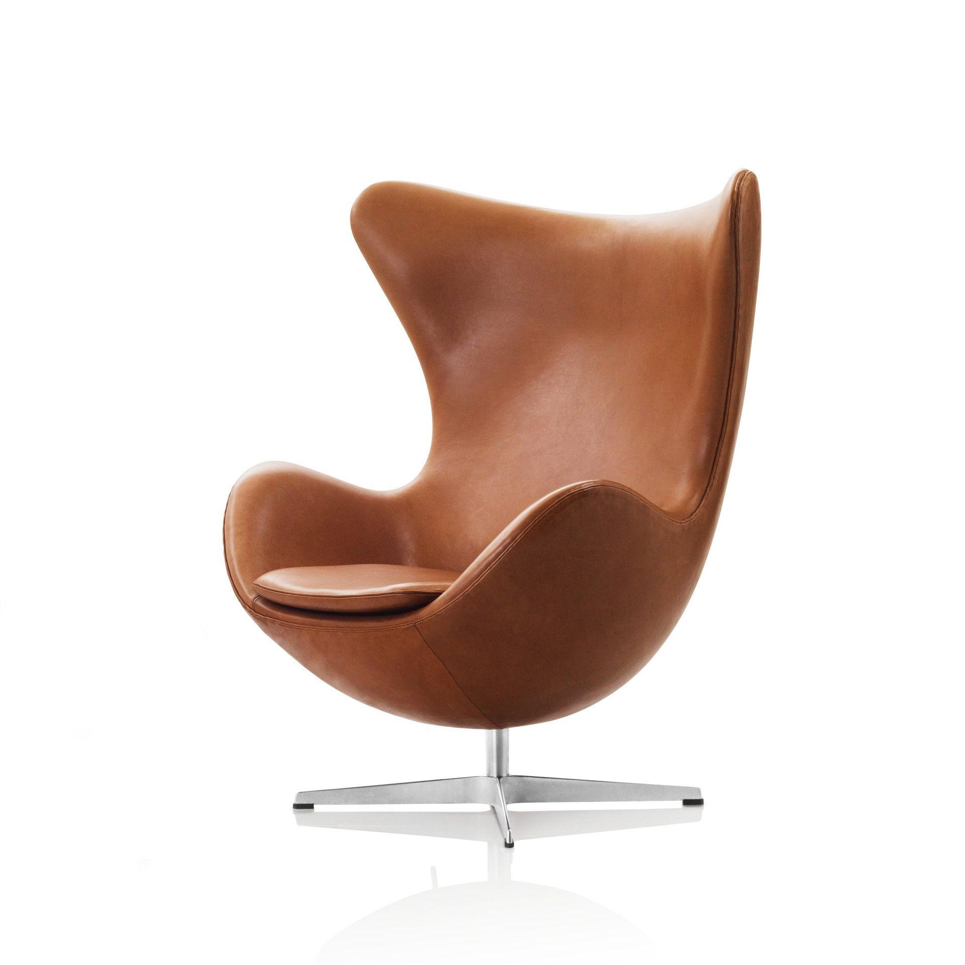 Beautiful Arne Jacobsen Egg Chair In Elegance Leather Walnut Good Ideas