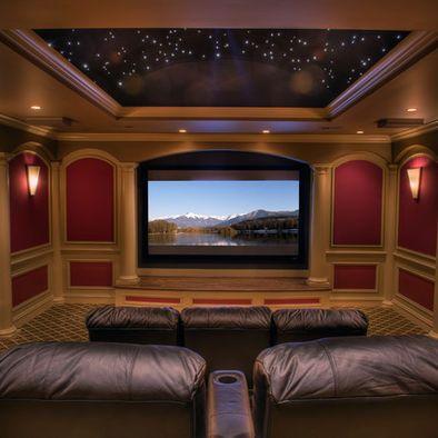 barrel vaulted ceiling Media Room Design, Pictures, Remodel, Decor