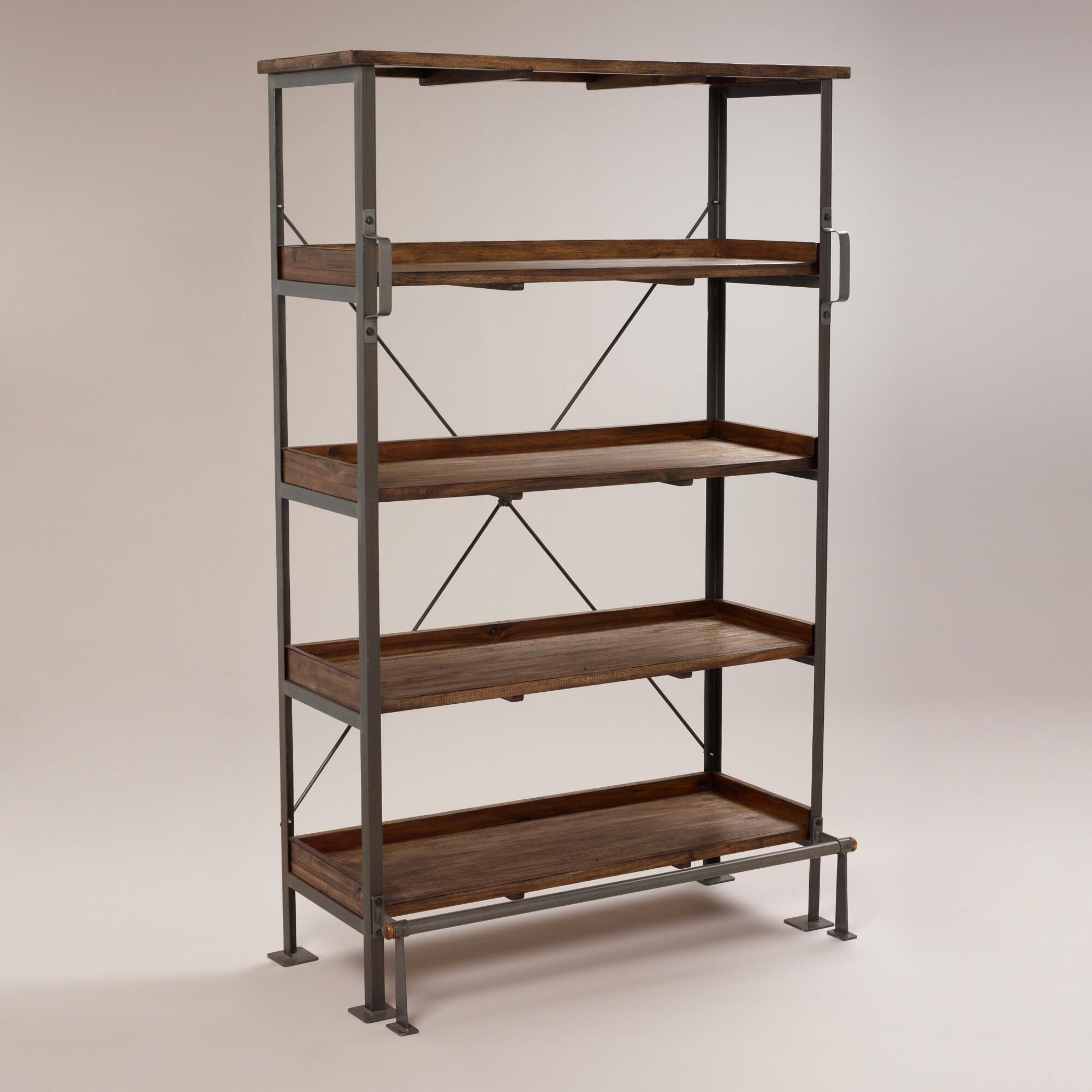 Emerson Shelving Shelves Home Office Furniture Rustic Bookcase