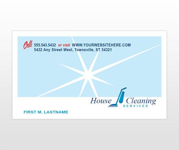 Wohn Reinigung Geschäft Karten Zusammen Mit Haus Reinigungs
