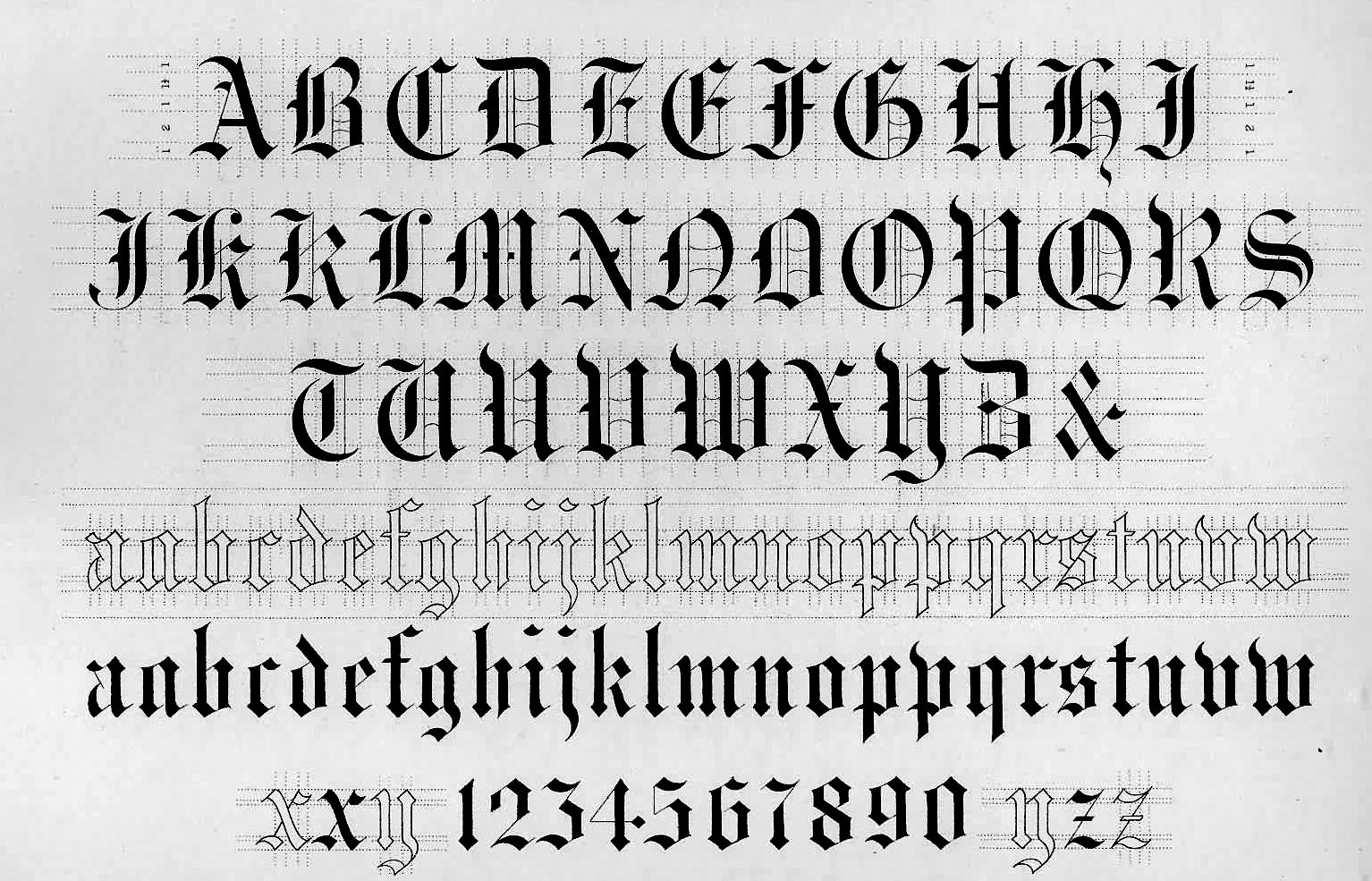 Old English Cursive Fonts | file name: New Specncerian