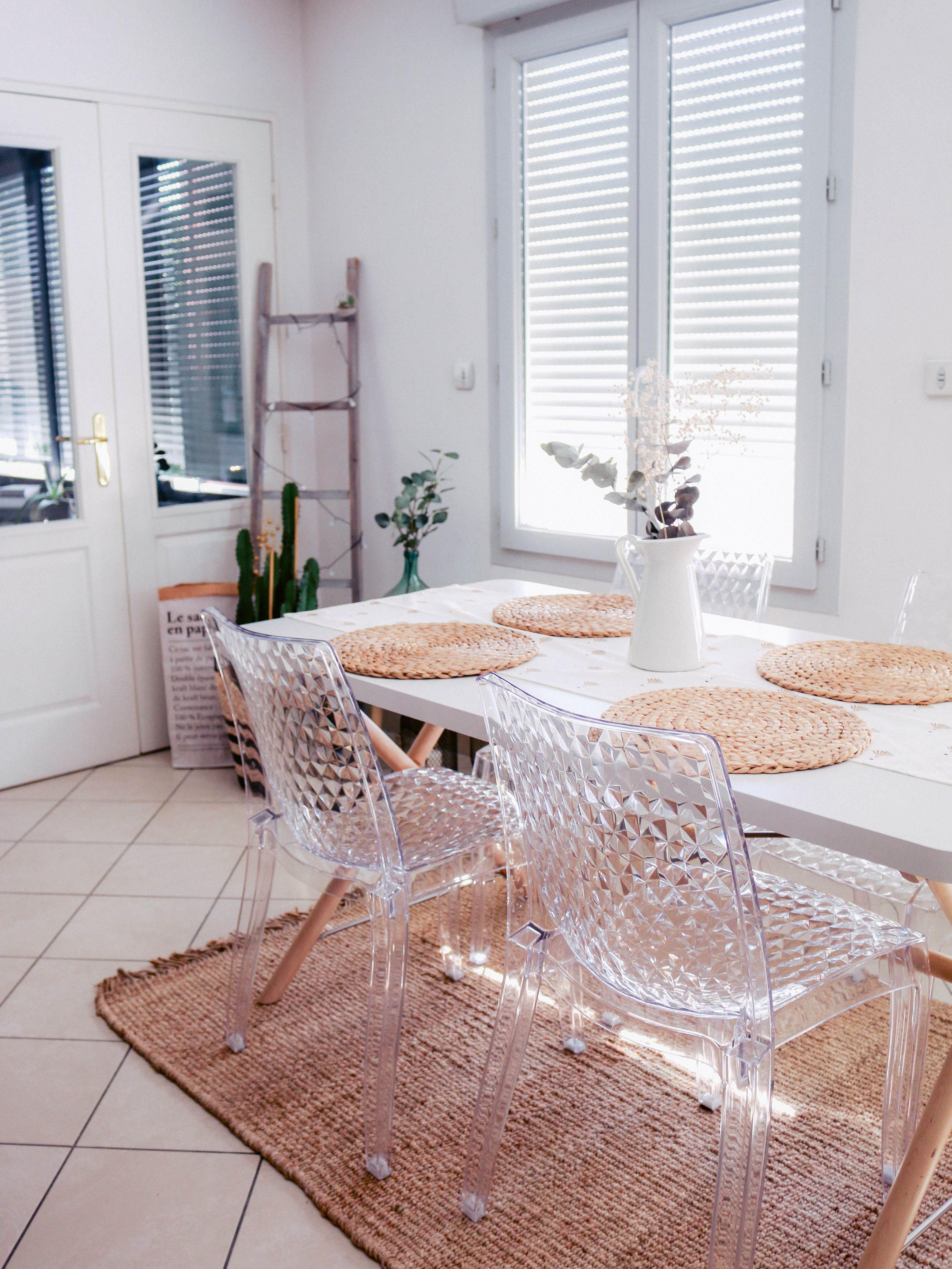 Table De Salle A Manger Blanche En Bois In 2020 Home Decor Home Decor
