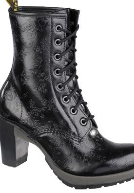 Dr martens darcie flowers bovver in heels shoes pinterest boots shoes and dr martens - Dr martens diva ...