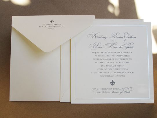 Wedding Invitations William Arthur: Simple And Classic. Custom Wedding Invitation By William