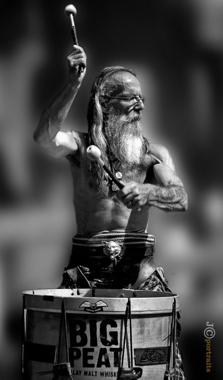 deepitforest:    Submission Tu-Bardh Wilson, drummer with the Scottish tribal band, Clanadonia  What a powerful portrait! Perfect edited i...