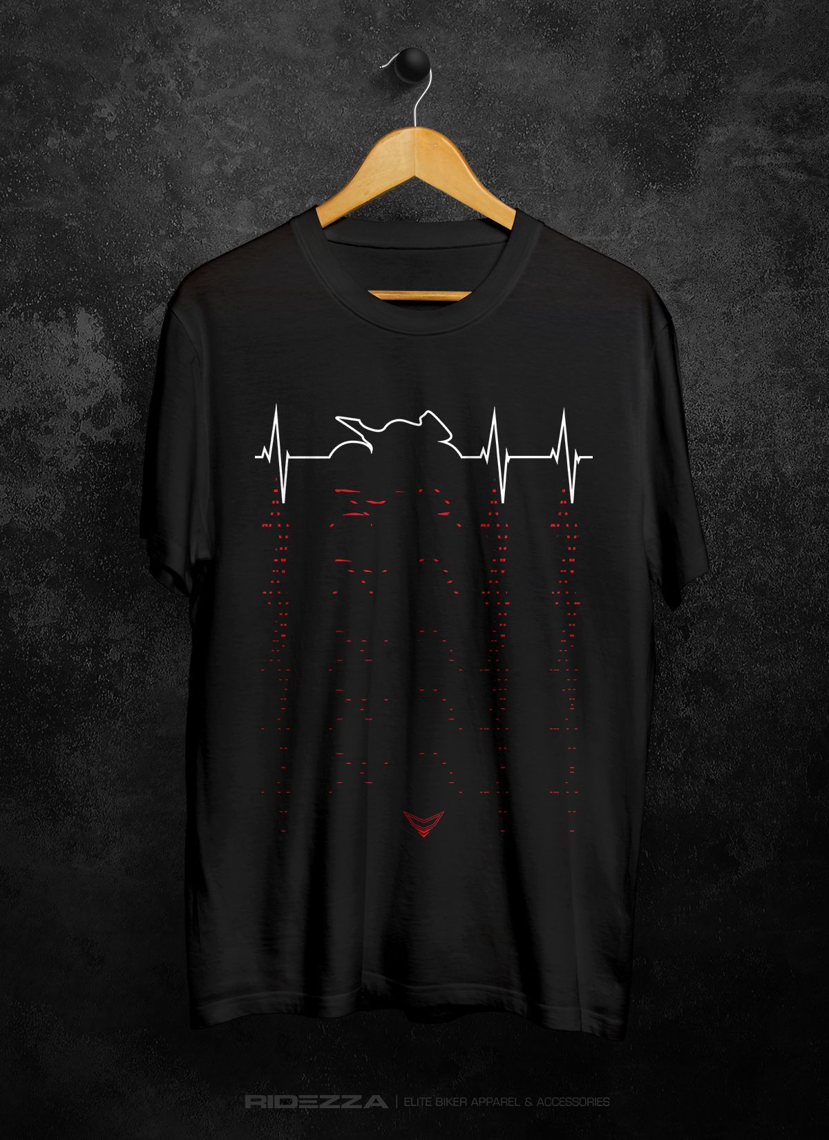 9c5ca931 Sport Motorcycle Heartbeat T-Shirt | Motorcycle Clothing ...