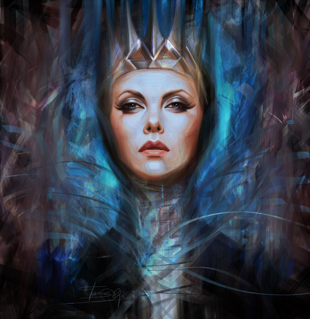 Digital Portrait of Charlize Theron as the Queen (Snow ...