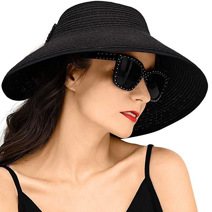 Pefeceve Straw Hats For Women Foldable Sun Hat Upf 50 Wide Brim Beach Hat Beige At Amazon Women S Clothing Store Hats For Women Beach Hat Sun Hats