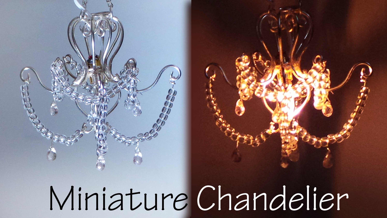 Miniature Chandelier Tutorial That Lights Up Dollhouse Miniature Tutorials Miniatures Tutorials Dollhouse Miniatures