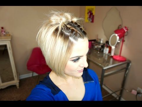 Waterfall Braided Bangs Short Hair Tutorial Youtube Short Hair Tutorial Short Hair With Bangs Braided Hairstyles