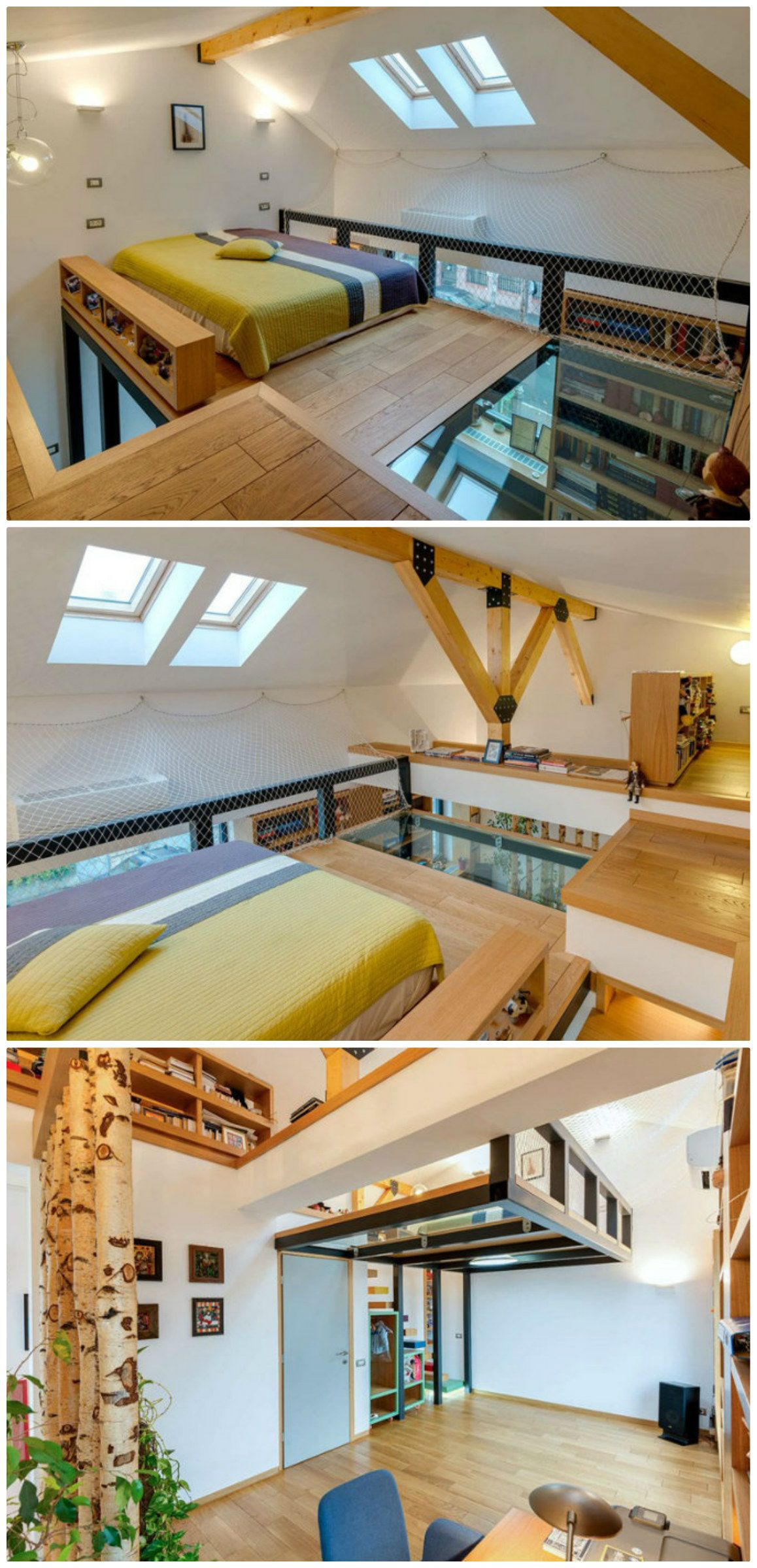 This lofted bedroom boasts  glass floor also best images decor dream house decorations rh pinterest