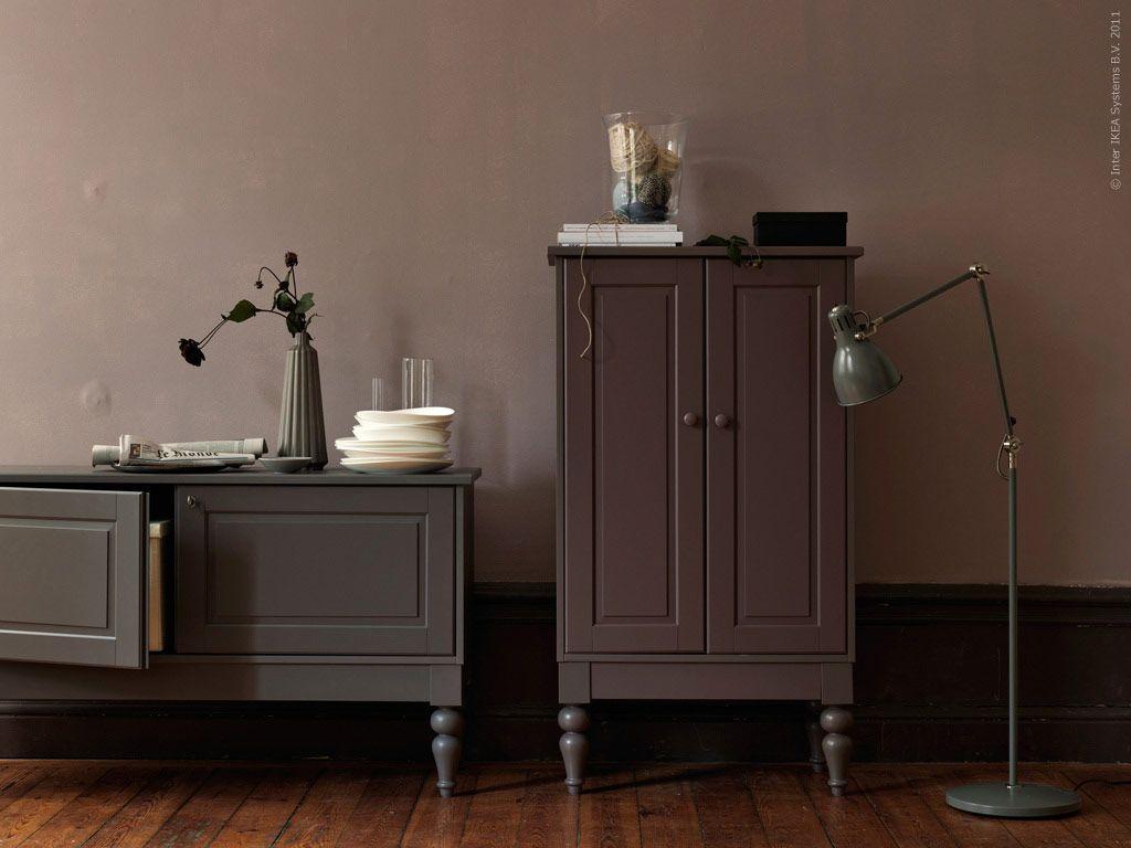 isala sideboard i grått skåp i lila ikea pinterest bedroom