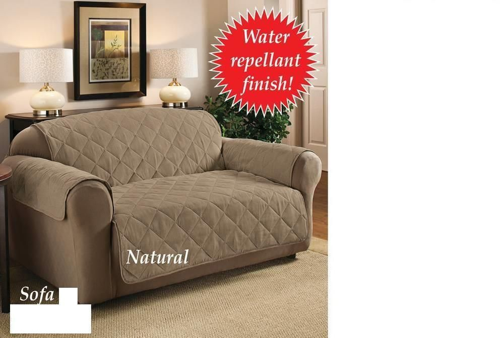 Best Quilted Suede Furniture Protector Cover Sofa Natural Pet 400 x 300