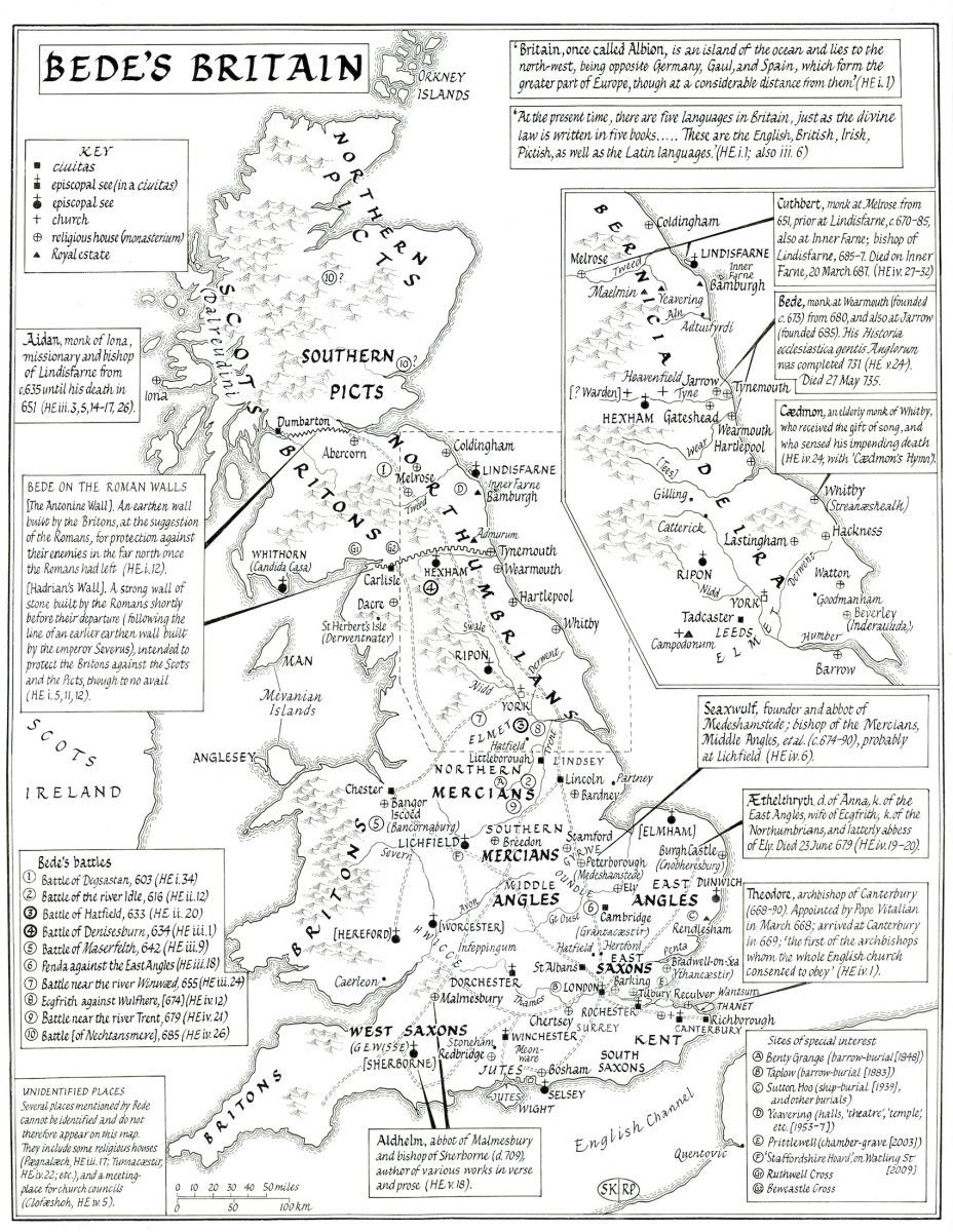 maps of anglo saxon england kemble this map is based upon bede u0027s