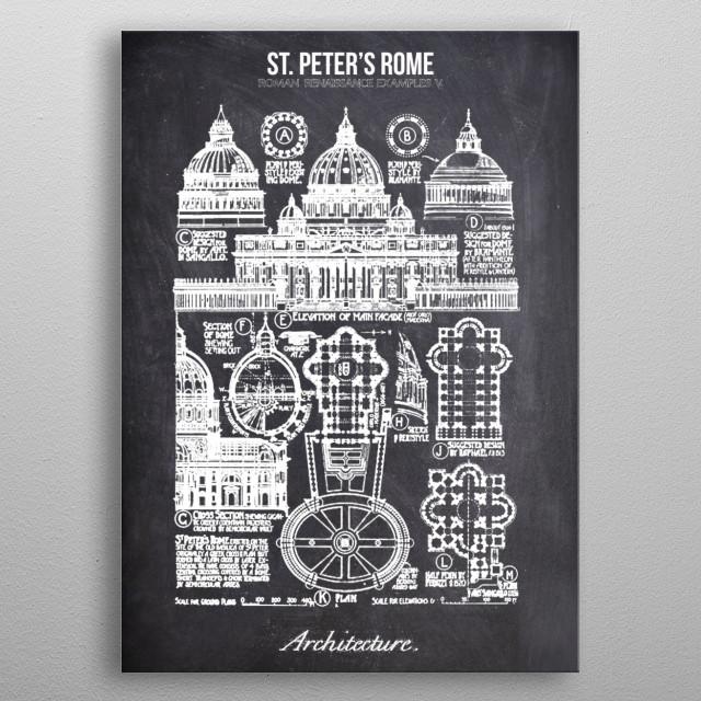 st peters rome by FARKI15 DESIGN | metal posters - Displate | Displate thumbnail