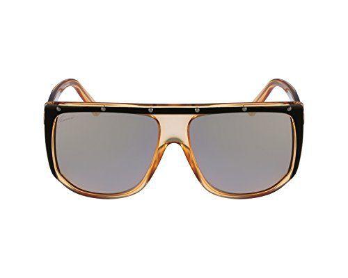 fff219f2145 Gucci Sunglasses - 3705   Frame  Orange Black Crystal Lens  Gray Rose Gold