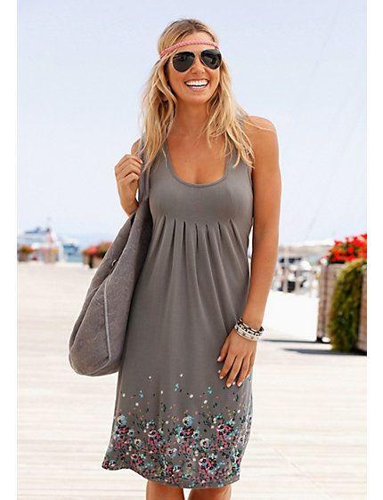 51b1b9979a43d7 BEACHTIME strandjurk met bloemenprint   Naaien - Strand jurken, De ...