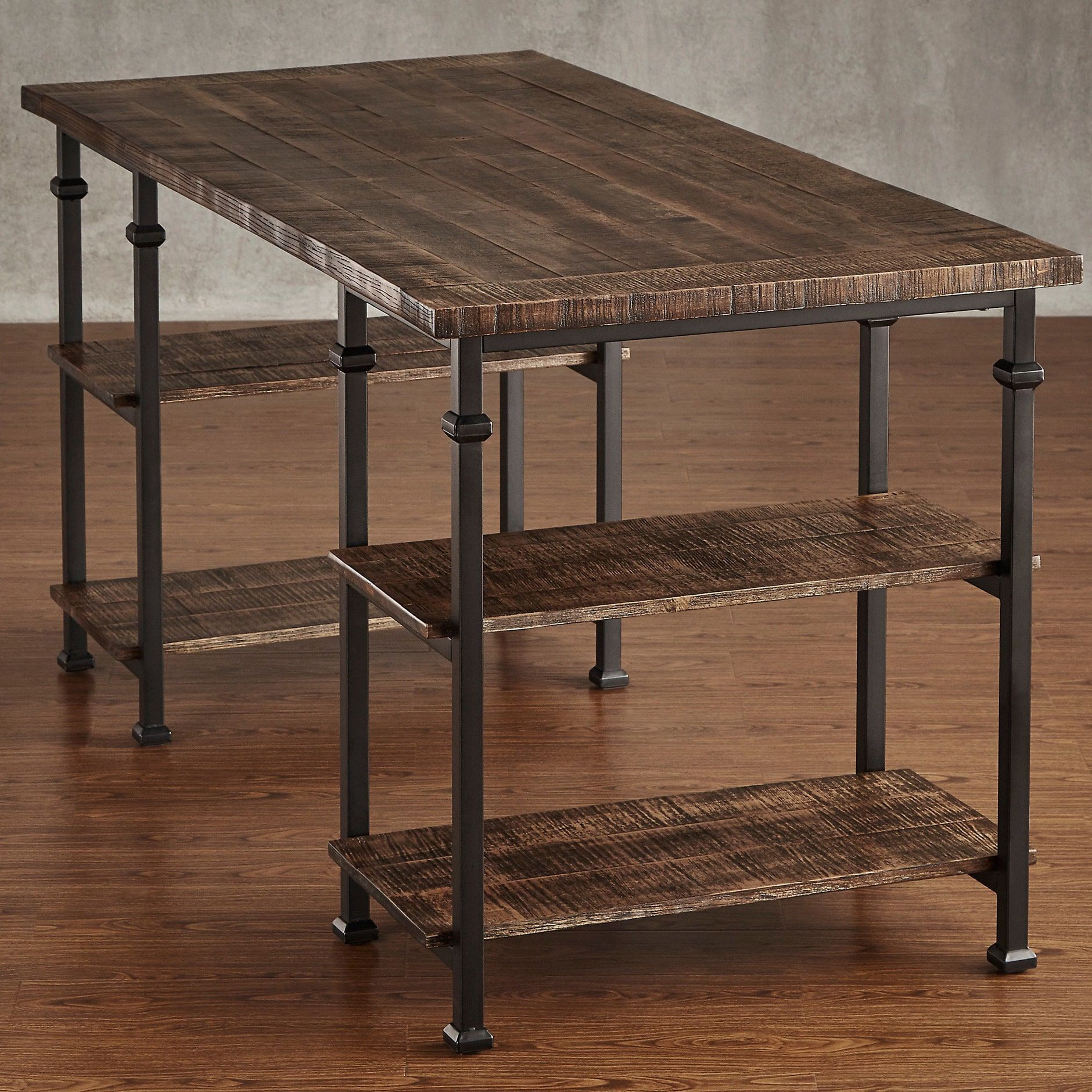 Myra Vintage Industrial Modern Rustic Storage Desk by iNSPIRE Q Classic