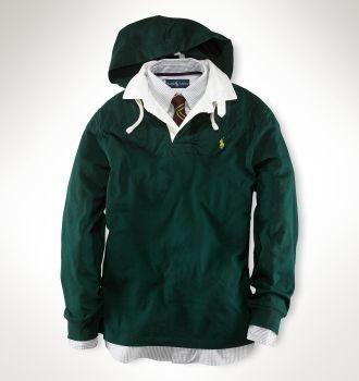Ralph Lauren 1031 Classic Fleece Hoodie in Green