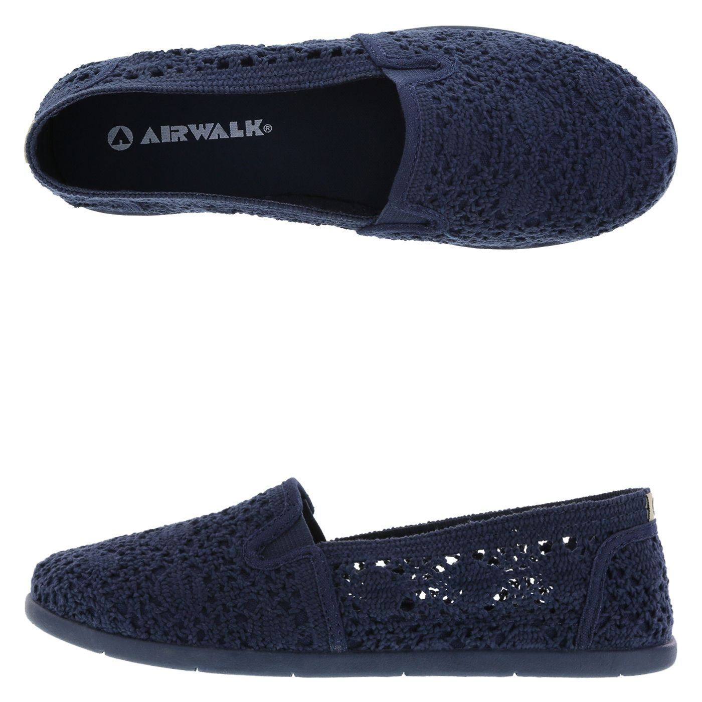 24a9d2f2851 Add a touch of Navy with the Crochet Dream Slip-On