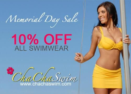 #Discount time! #Save 10% on all #swimwear now thru 5/31. Use promo code CHIRP10 at checkout. #shop #memorialdaysale