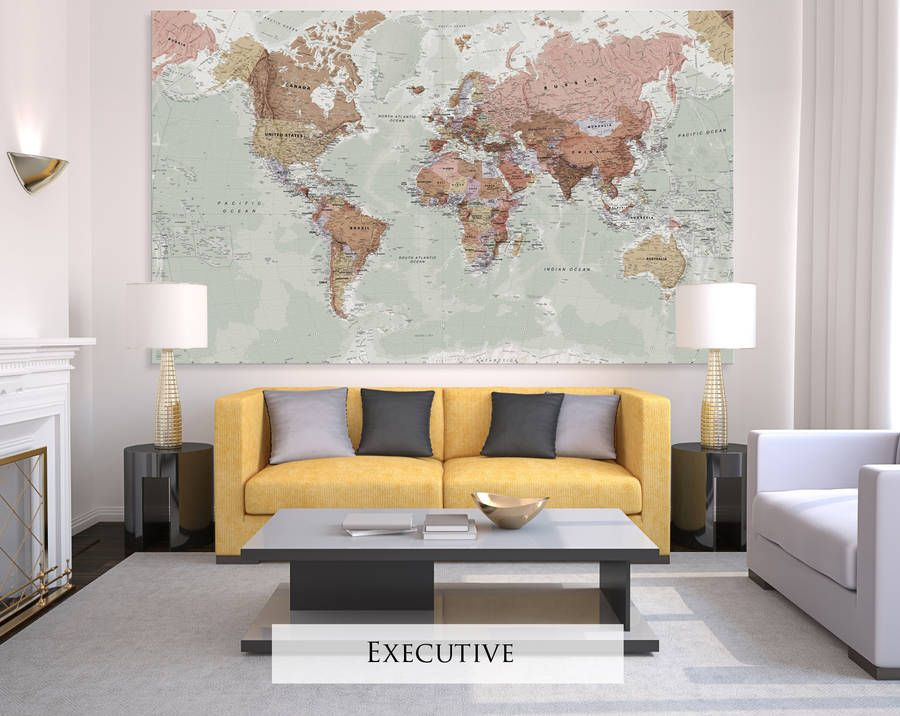 Giant canvas world map canvases bedrooms and room giant sized canvas world map executive gumiabroncs Image collections