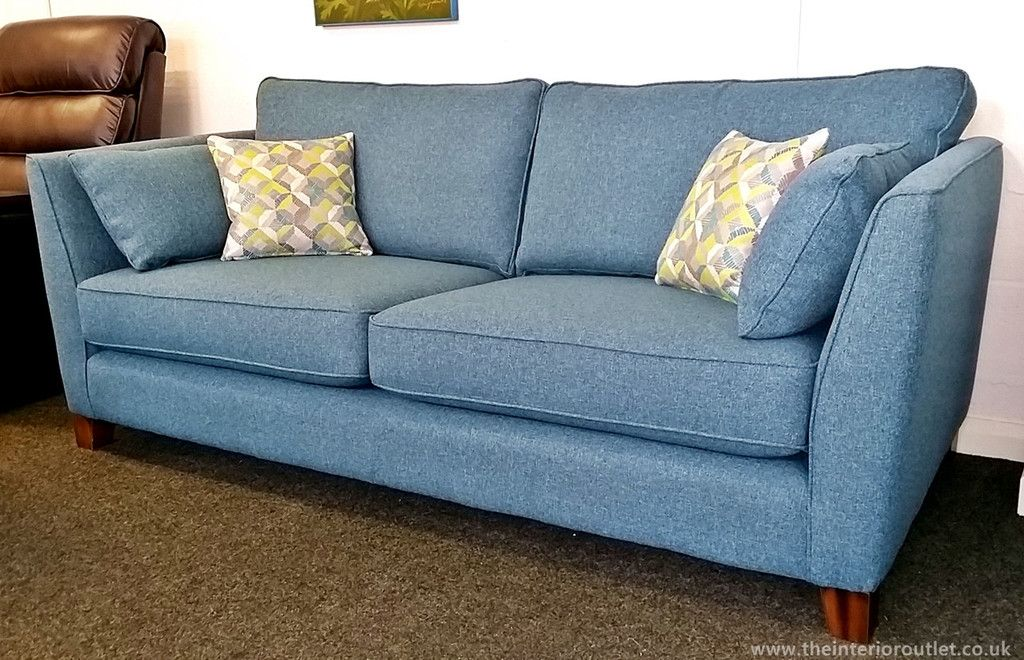 Only 899 Beautiful Quality Teal Martina 3 Seater Sofa