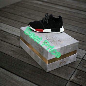 2018 New Arrival Foot Locker x adidas NMD R1 Core Black White newest sneaker 538bb774c