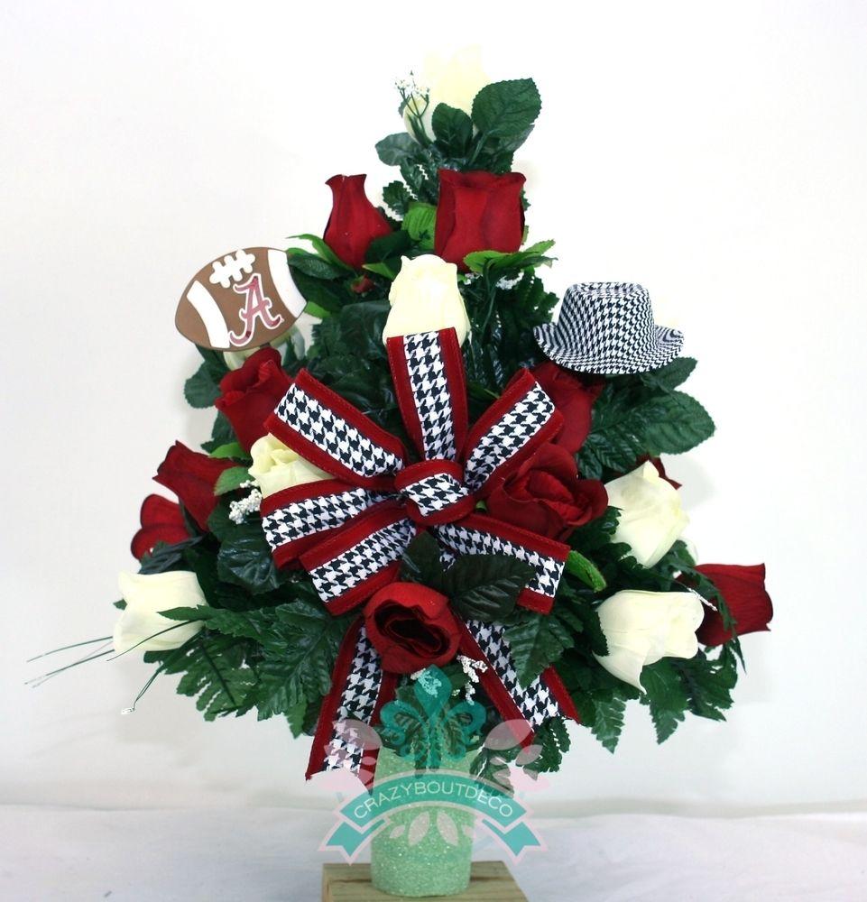 Alabama Crimson Tide Fan Cemetery Vase Arrangement, $45.99 ...