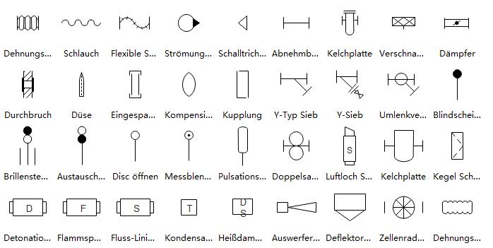 R&I-Fließschema Symbole | Elektrische Schaltpläne Konstruktion ...