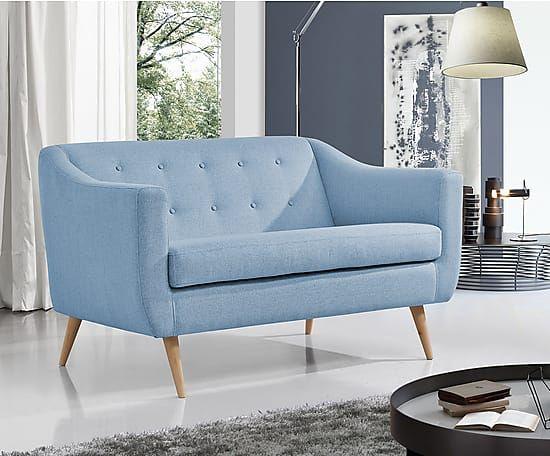 Canapé 2 places, bleu clair - L140 | Salon | Pinterest | Canapes and ...