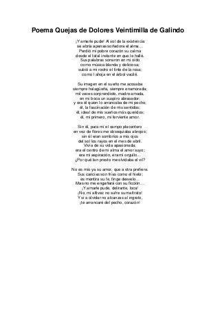 Poema Quejas De Dolores Veintimilla De Galindo With Images