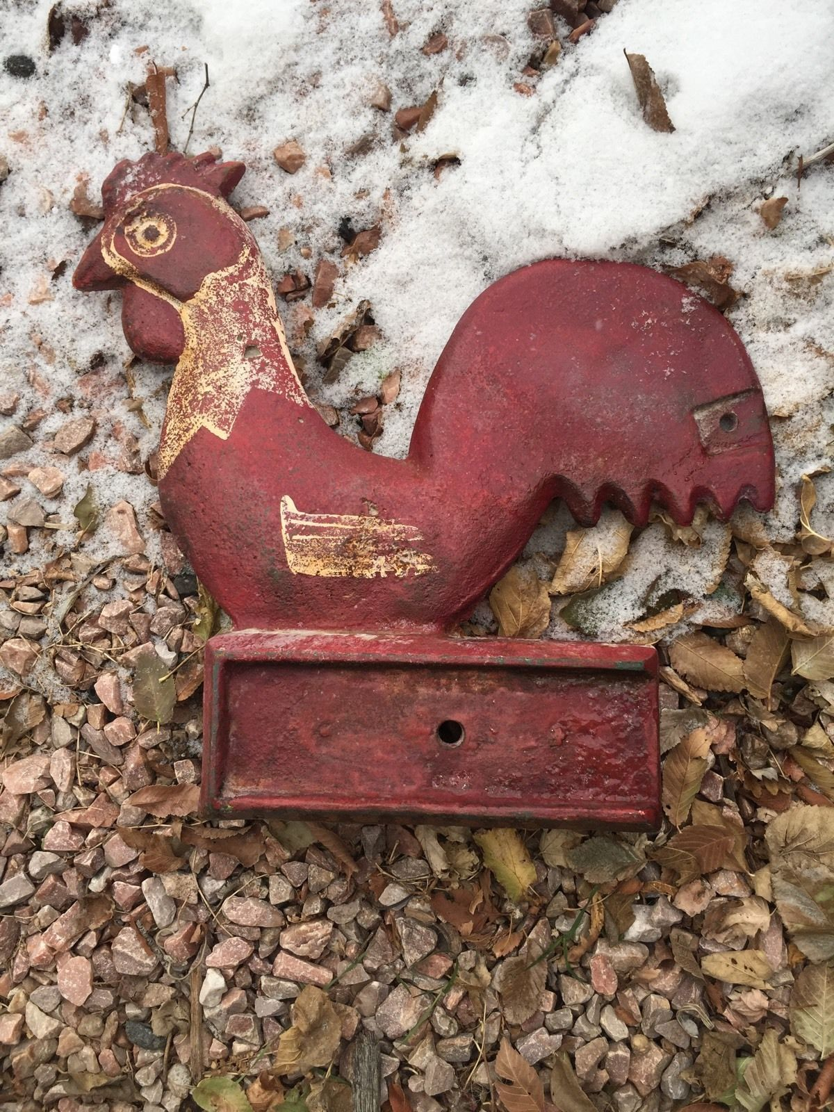 Vintage Rooster Windmill Weight Cast Iron Round Tail Box Base 34 5 Lbs Ebay Rooster Windmill Christmas Ornaments