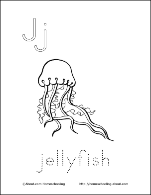 My J Book Jellyfish Coloring Page