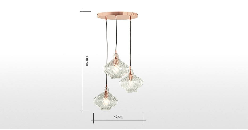 d6b392faac34 Kaleido Cluster Pendant Light, Smoke Grey Glass and Copper in 2019 ...