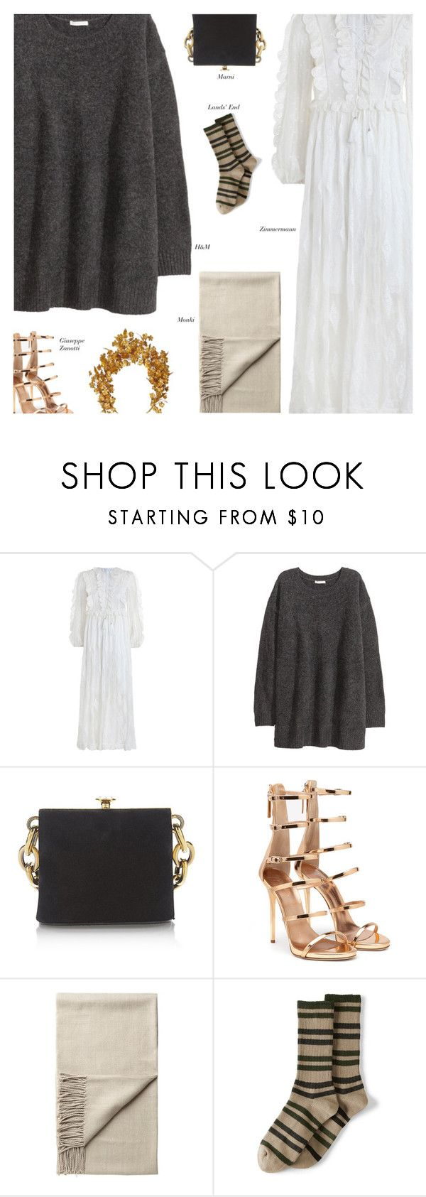 """Untitled #4647"" by amberelb ❤ liked on Polyvore featuring Zimmermann, Marni, Monki and Lands' End"