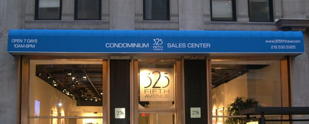 Waterfall Awning Installed In New York City By Citywide Awning Company Installation Outdoor Signs Condominium
