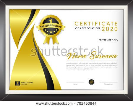 certificate template vector illustration, diploma layout in a4 - free business certificate templates