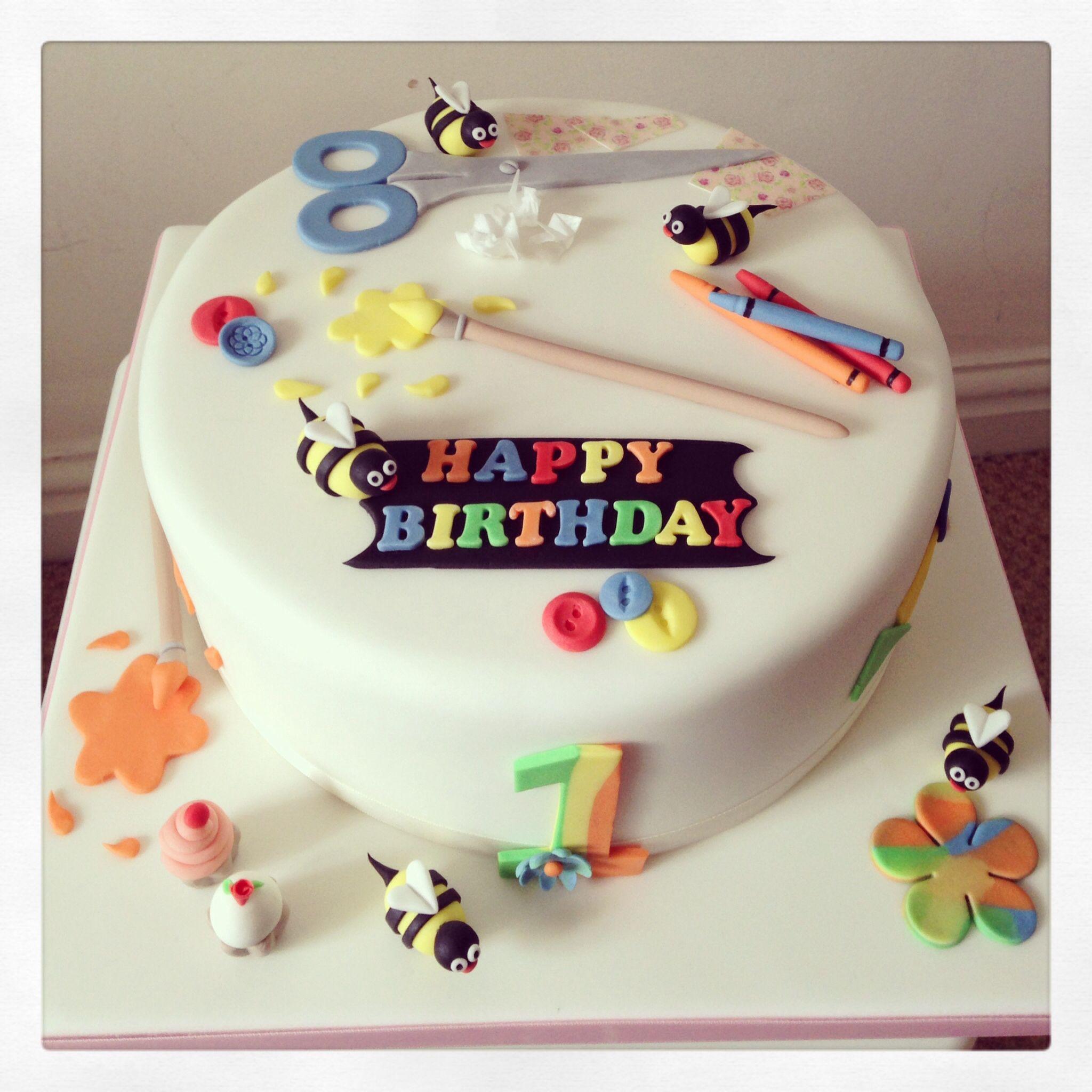 Arts and crafts birthday cake yummy treats Pinterest Birthday