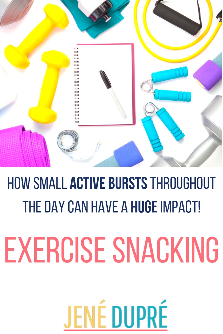 What is Exercise Snacking?! Well it is how you can get 60 minutes of exercise in 4 15 minute segment...