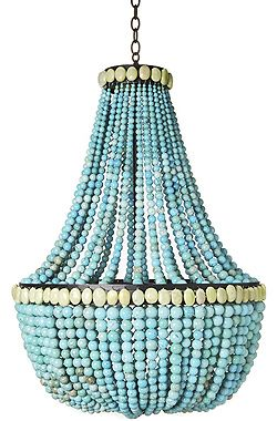 Empire turquoise beaded chandelier by marjorie skouras details empire turquoise beaded chandelier by marjorie skouras aloadofball Image collections