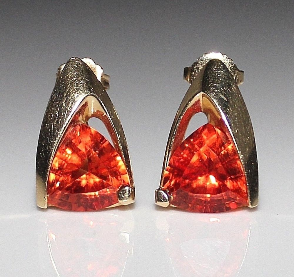 chatham eco earrings friendly peach sapphire products jewelry padparadscha