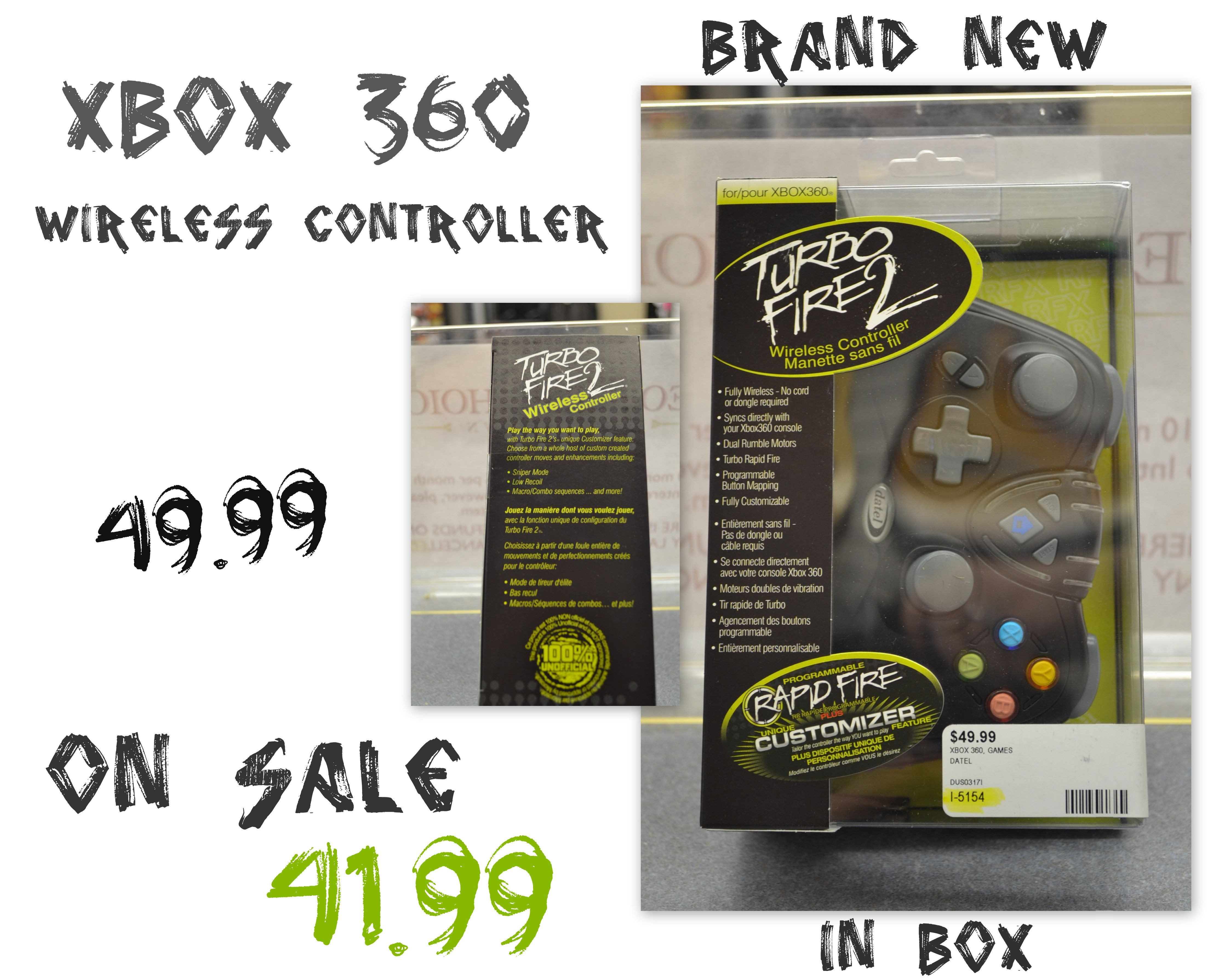 People's Choice Cash and Pawn/Electronics ..Brand New In The Box Xbox 360 Wireless Controller that is normally 49.99 but just knocked it down in price for you @ 41.99. We can take payment over the phone & ship if needed