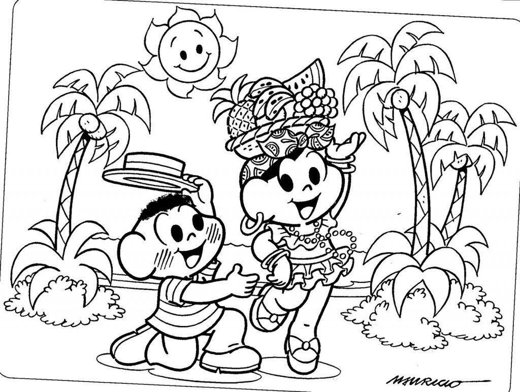 Turma Da Monica Desenhos De Carnaval Monica Para Colorir