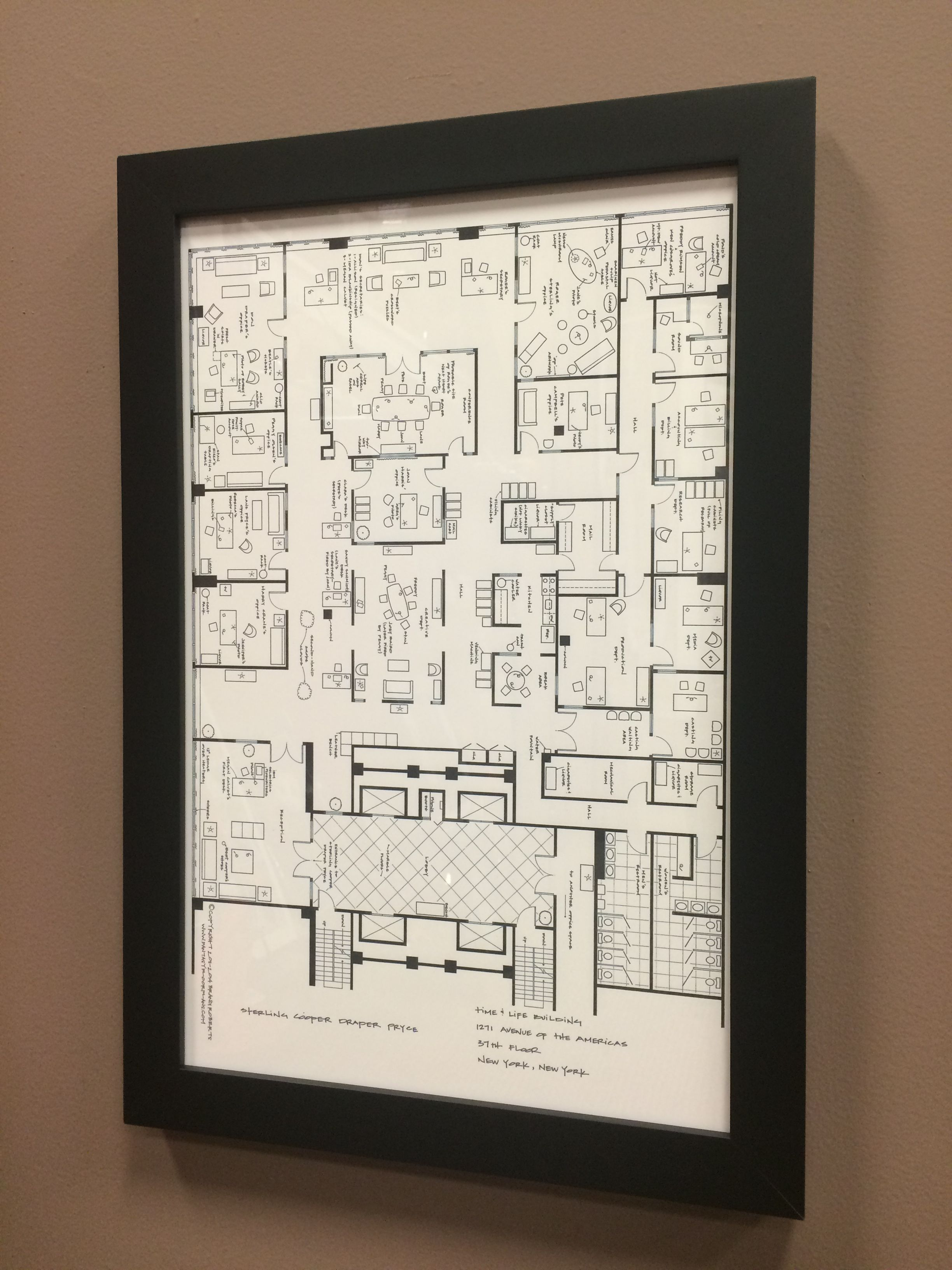 Blueprint of time life building in new york new york custom framed blueprint of time life building in new york new york custom framed in malvernweather Gallery