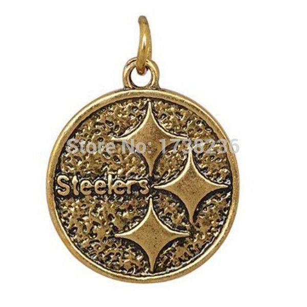 Antique Bronze Pittsburgh Steelers Bracelet Bangles Jewelry Accessories Charm
