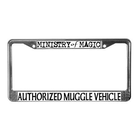 Alumni Hogwarts license plate frame holder harry